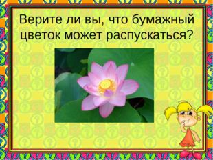 Верите ли вы, что бумажный цветок может распускаться?