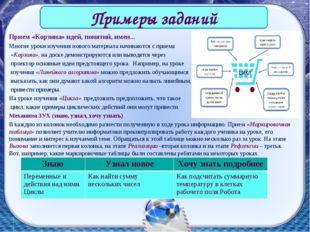 Прием «Корзина» идей, понятий, имен... Многие уроки изучения нового материала