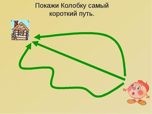 Покажи Колобку самый короткий путь.