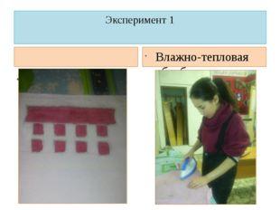 Эксперимент 1 Покраска соком брусники Влажно-тепловая обработка