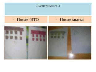 Эксперимент 3 После ВТО После мытья