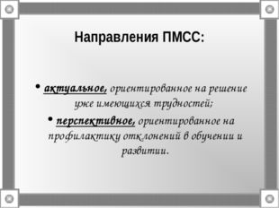 Направления ПМСС: актуальное, ориентированное на решение уже имеющихся трудно