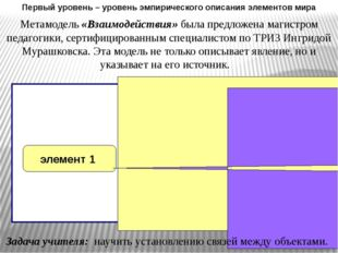 Метамодель «Взаимодействия» была предложена магистром педагогики, сертифицир