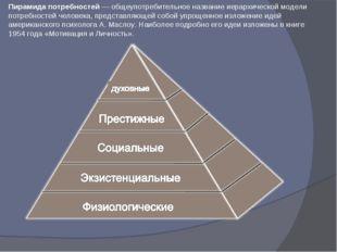 Пирамида потребностей— общеупотребительное название иерархической модели пот