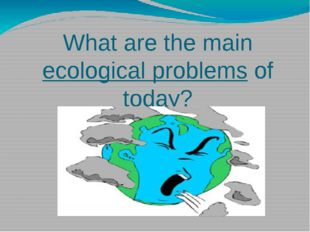 What are the main ecological problems of today?
