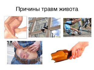 Причины травм живота