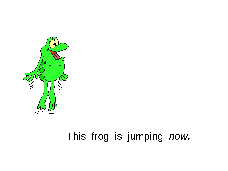 This frog is jumping now.
