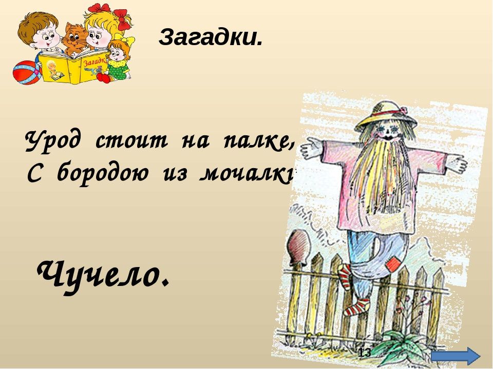 Урод стоит на палке, С бородою из мочалки. Чучело. Загадки. http://img01.chit...