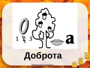 Доброта Воронина Елизавета Ивановна