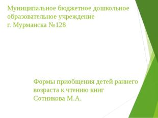 Муниципальное бюджетное дошкольное образовательное учреждение г. Мурманска №1