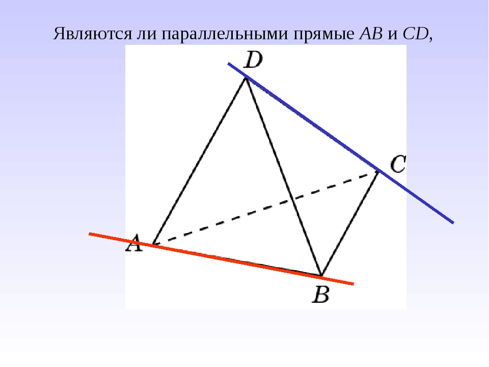 Являются ли параллельными прямые AB и CD,