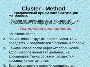 Cluster - Method - графический приём систематизации материала. Мысли не громо
