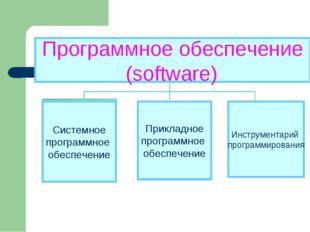 Программное обеспечение (software) Прикладное программное обеспечение Инструм