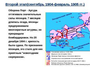 Второй этап(сентябрь 1904-февраль 1905 гг.) Оборона Порт - Артура оттягивала