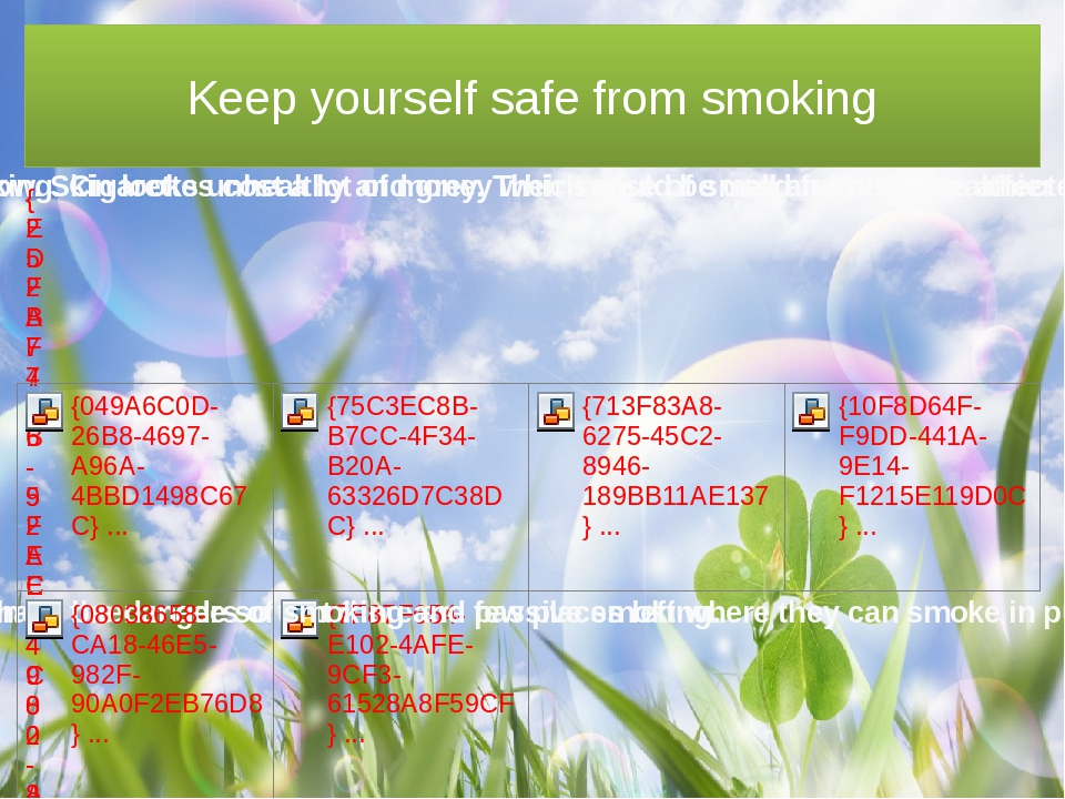 Keep yourself safe from smoking