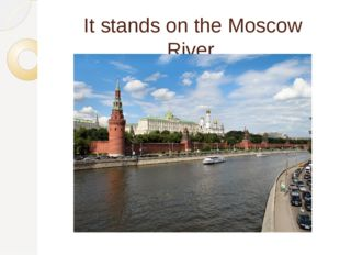 It stands on the Moscow River.