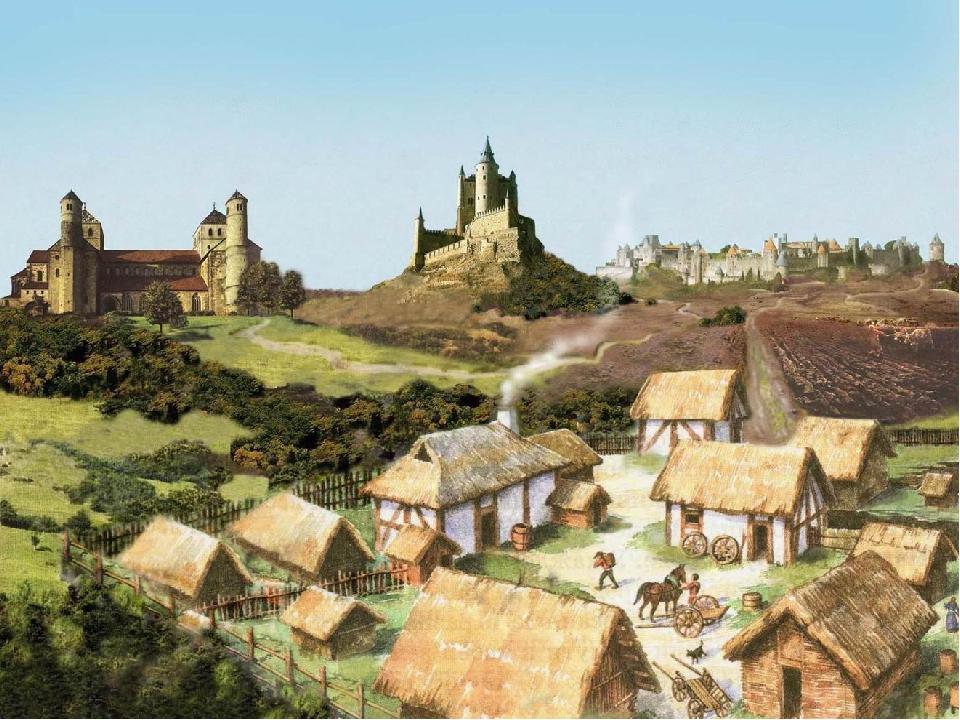 Средневековая деревня и ее обитатели.