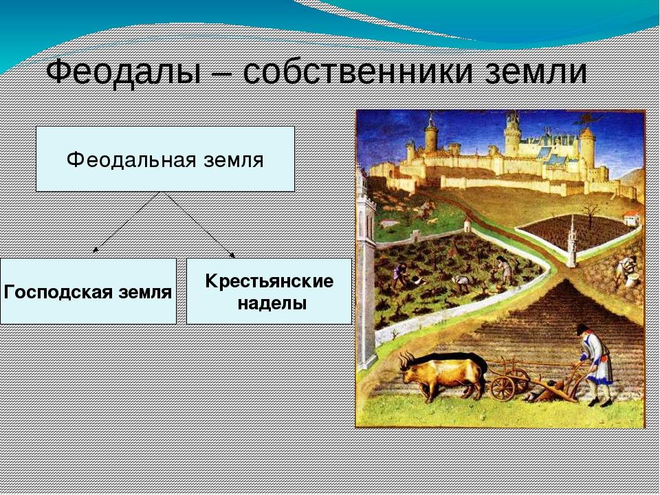 Феодалы – собственники земли Господская земля Крестьянские наделы Феодальная...