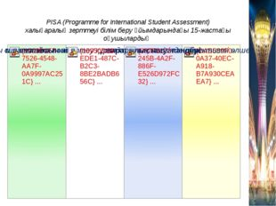 PISA (Programme for International Student Assessment) халықаралық зерттеуі бі