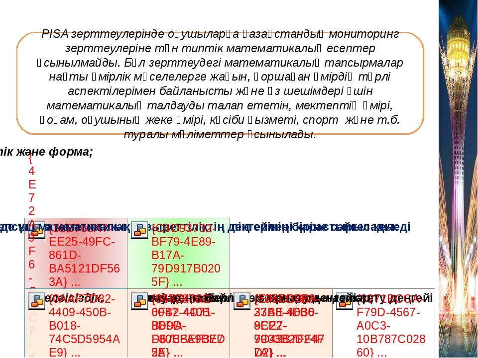 Математикалық сауаттылығы PISA зерттеулерiнде оқушыларға қазақстандық монитор...
