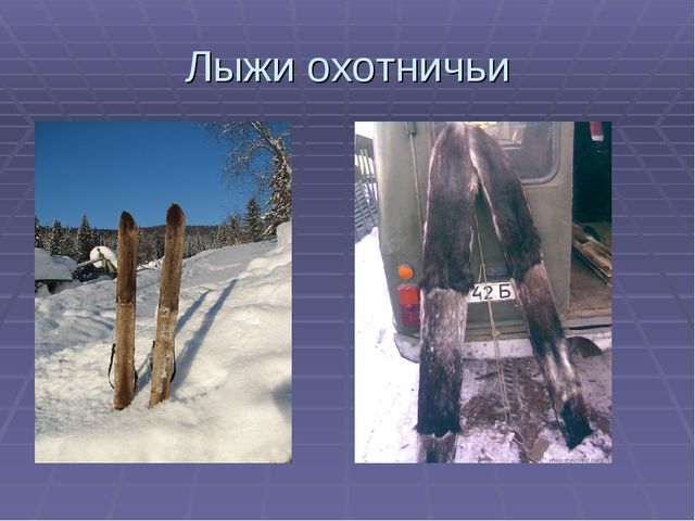 Лыжи охотничьи