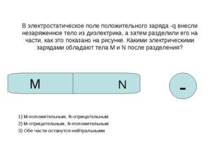 В электростатическое поле положительного заряда -q внесли незаряженное тело и