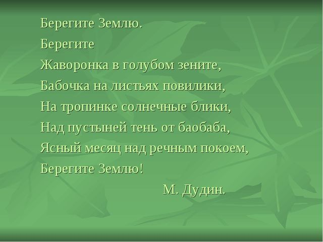 Берегите Землю. Берегите Жаворонка в голубом зените, Бабочка на листьях пови...