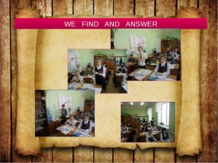 WE FIND AND ANSWER