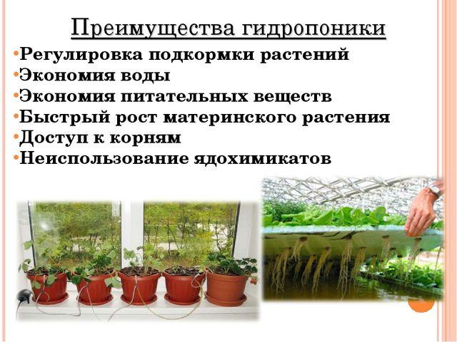 Регулировкаподкормки растений Экономия воды Экономия питательных веществ Бы...