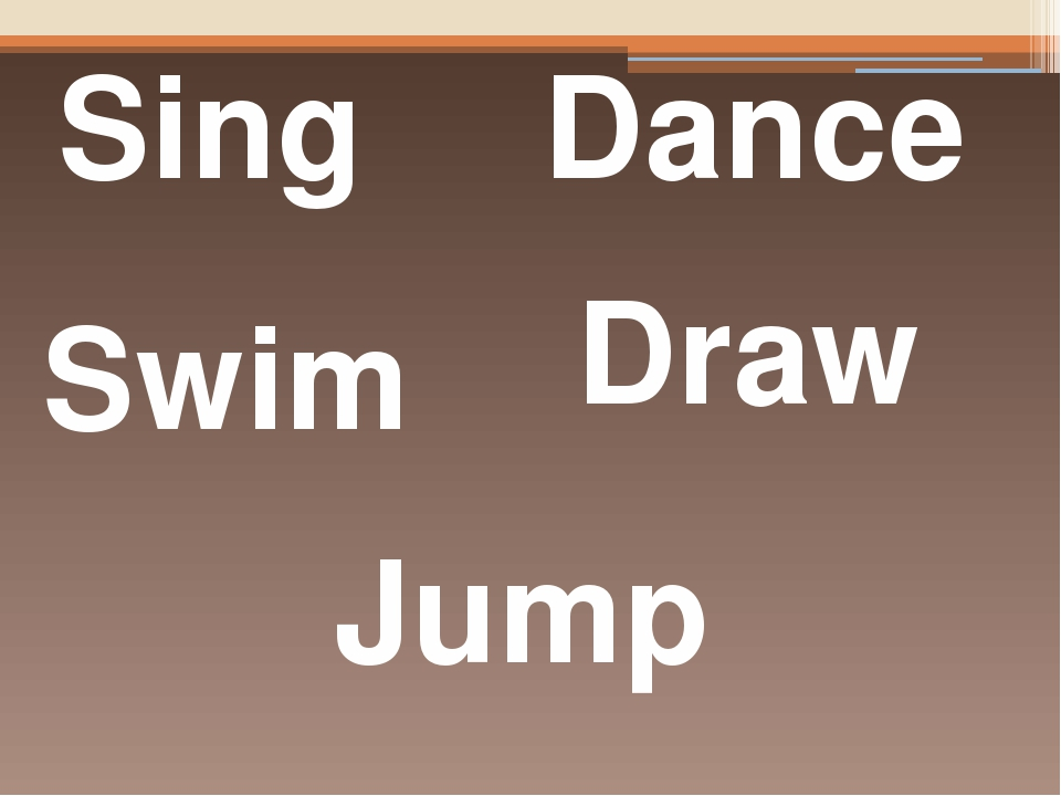 Sing Dance Swim Jump Draw Translate into Ukrainian