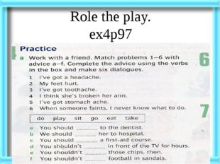 Role the play. ex4p97