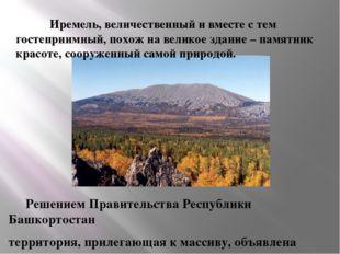 Решением Правительства Республики Башкортостан  территория, прилегающая к ма