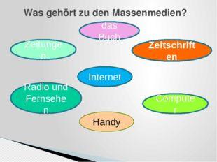 Was gehört zu den Massenmedien? das Buch Zeitungen Zeitschriften Radio und Fe