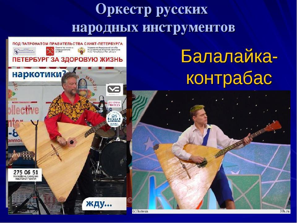 Оркестр русских народных инструментов Балалайка-контрабас