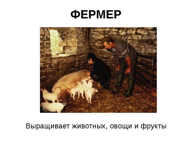 ФЕРМЕР Выращивает животных, овощи и фрукты
