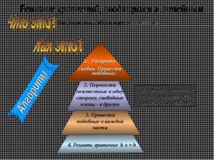 неизвестное ____________________ Это уравнение, содержащее Проверяйте: поменя