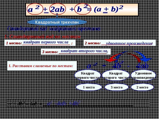 1. Стандартный вид по местам 1 место: ________________________ ; 2 место: ___...