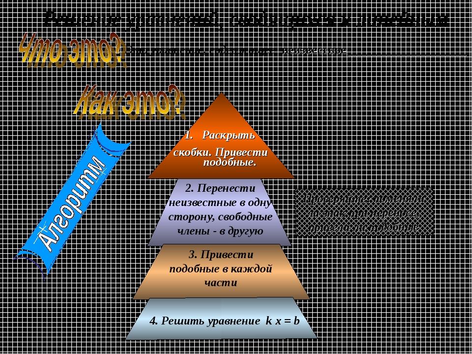 неизвестное ____________________ Это уравнение, содержащее Проверяйте: поменя...