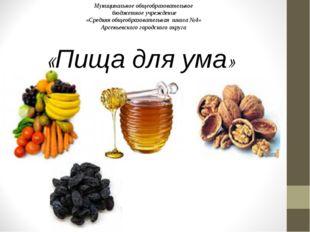 «Пища для ума» Муниципальное общеобразовательное бюджетное учреждение «Средня