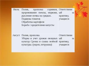 Июль Полив, прополка сорняков, прореживание свеклы, моркови, рыхление почвы н