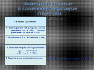 Проверь себя. Проанализируй ошибки. 0,7х2 = 1,3х + 2 4. Решите уравнение 1. С