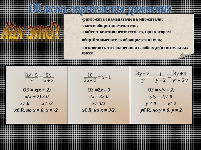 ОЗ = х(х + 2) х(х + 2) ≠ 0 х≠ 0 х≠ -2 х€ R, но х ≠ 0, х ≠ -2  ОЗ =2х – 3 2х...