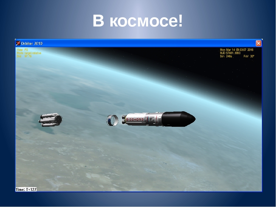 В космосе!