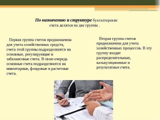 По назначению и структуребухгалтерские счета делятся на две группы . Вторая...