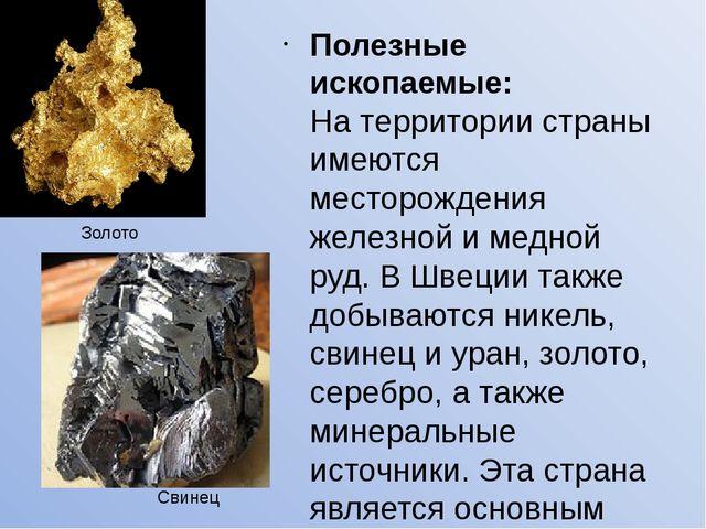 Полезные ископаемые: На территории страны имеются месторождения железной и м...