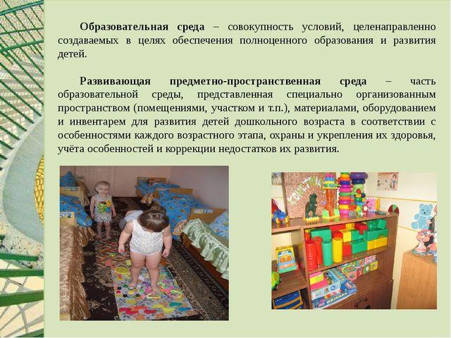 Образовательная среда – совокупность условий, целенаправленно создаваемых в...