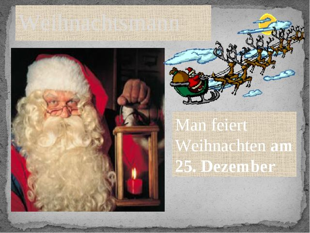 Weihnachtsmann Man feiert Weihnachten am 25. Dezember