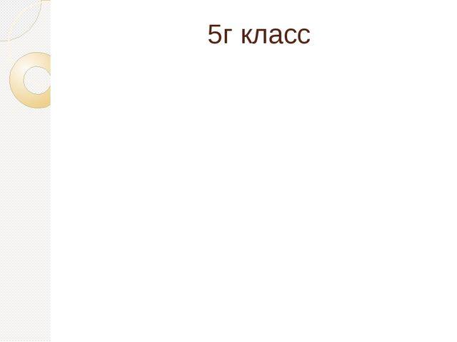 5г класс