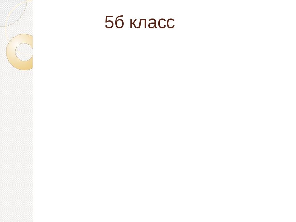 5б класс