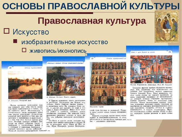 Православная культура Искусство изобразительное искусство живопись/иконопись...